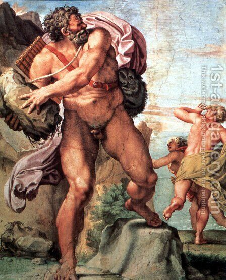 The Cyclops Polyphemus 2 by Annibale Carracci - Reproduction Oil Painting