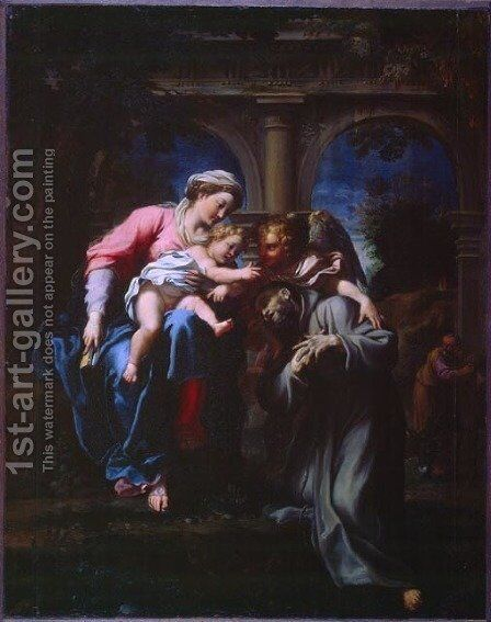 The Vision of St. Francis by Annibale Carracci - Reproduction Oil Painting