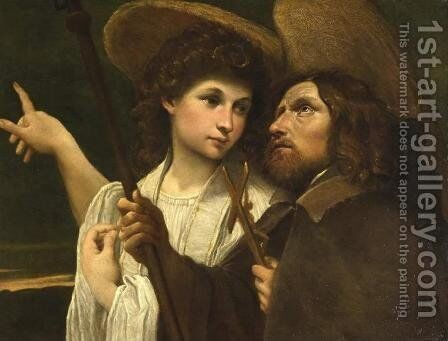 St Roch and the Angel by Annibale Carracci - Reproduction Oil Painting