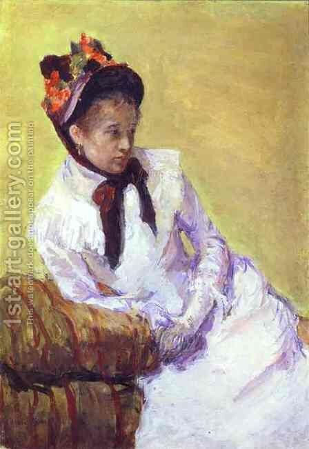 Self Portrait 3 by Mary Cassatt - Reproduction Oil Painting