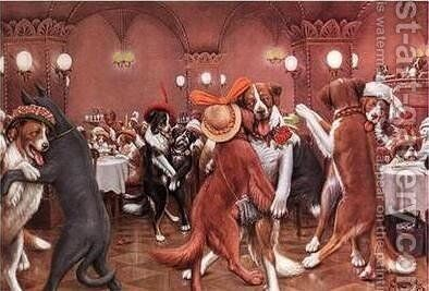 New Years Eve in Dogville by Cassius Marcellus Coolidge - Reproduction Oil Painting