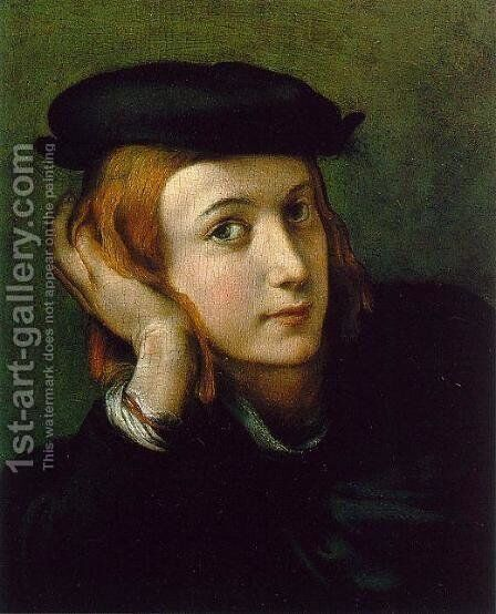 Portrait of a Young Man by Correggio (Antonio Allegri) - Reproduction Oil Painting