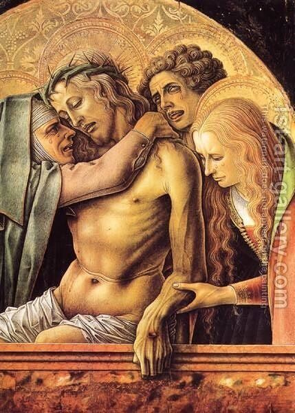 Pieta 3 by Carlo Crivelli - Reproduction Oil Painting