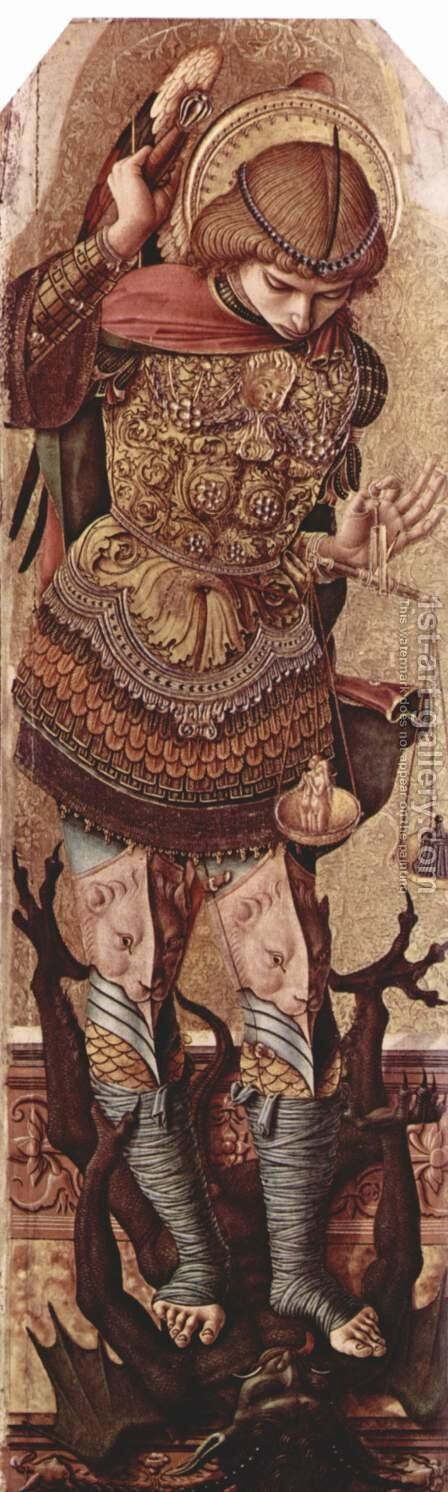 St. Michael by Carlo Crivelli - Reproduction Oil Painting