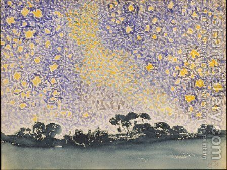 Landscape with Stars by Henri Edmond Cross - Reproduction Oil Painting