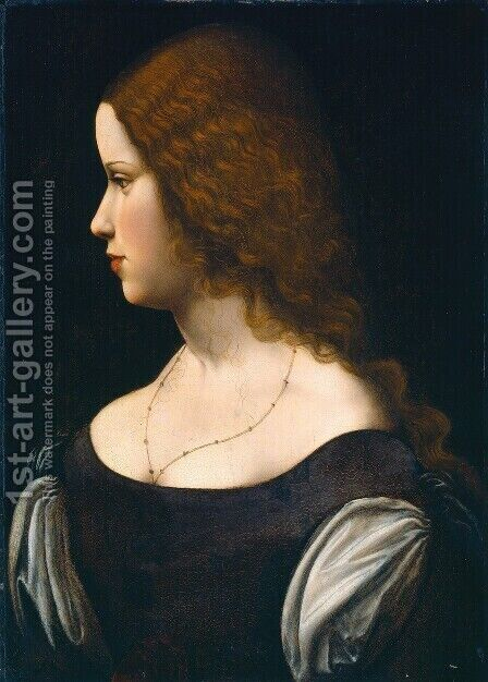 Portrait of a Young Lady by Leonardo Da Vinci - Reproduction Oil Painting