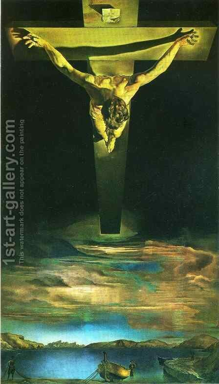 Christ of Saint John of the Cross by Salvador Dali (inspired by) - Reproduction Oil Painting