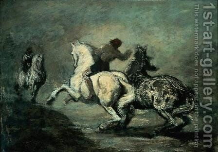 Horsemen by Honoré Daumier - Reproduction Oil Painting