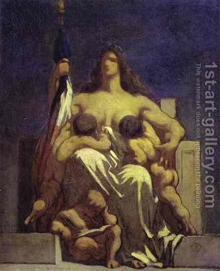 "Sketch for ""La Republique"" by Honoré Daumier - Reproduction Oil Painting"