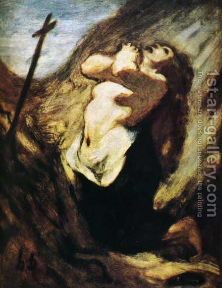 St. Magdalene in the Desert by Honoré Daumier - Reproduction Oil Painting