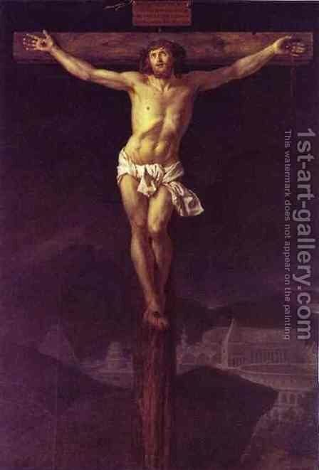 Christ on the Cross 2 by Jacques Louis David - Reproduction Oil Painting