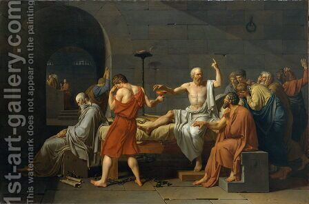 The Death of Socrates by Jacques Louis David - Reproduction Oil Painting