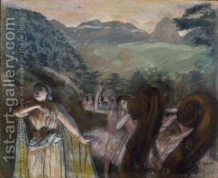 Aria after the Ballet by Edgar Degas - Reproduction Oil Painting