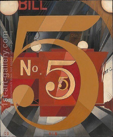 The Figure Five in Gold by Charles Demuth - Reproduction Oil Painting