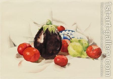 Eggplant and Tomatoes by Charles Demuth - Reproduction Oil Painting