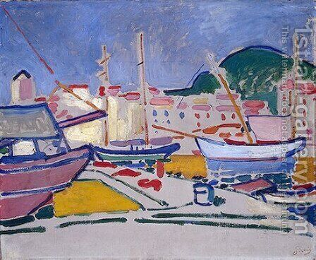 Port by Andre Derain - Reproduction Oil Painting