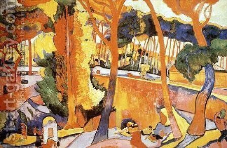 The Turning Road by Andre Derain - Reproduction Oil Painting