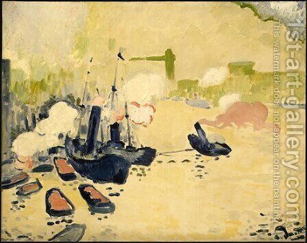 View of the Thames by Andre Derain - Reproduction Oil Painting