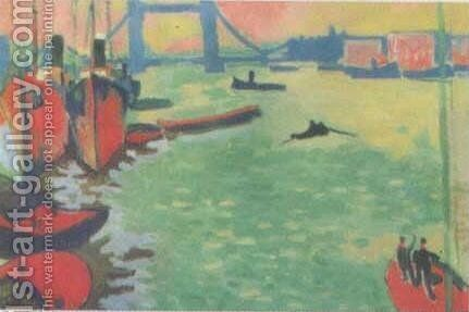 The Thames and Tower Bridge by Andre Derain - Reproduction Oil Painting