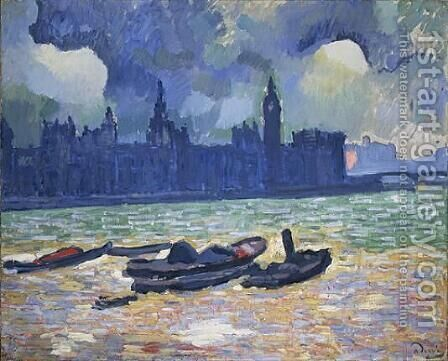 Houses of Parliament at Night by Andre Derain - Reproduction Oil Painting
