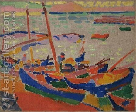 Fishing Boats at Collioure by Andre Derain - Reproduction Oil Painting