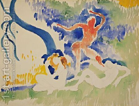 Bacchic Dance by Andre Derain - Reproduction Oil Painting