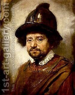 Man in a Helmet by Carel Fabritius - Reproduction Oil Painting