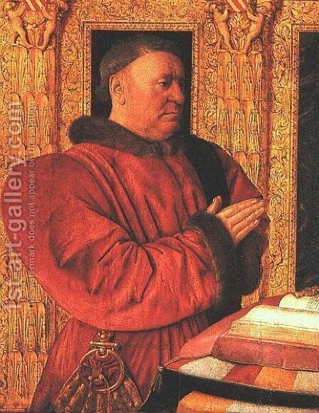 Chancellor of France by Jean Fouquet - Reproduction Oil Painting