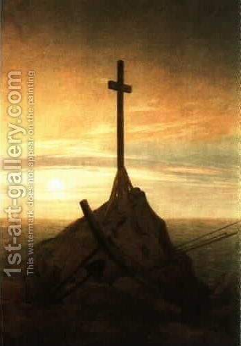 Cross on the Baltic Sea by Caspar David Friedrich - Reproduction Oil Painting