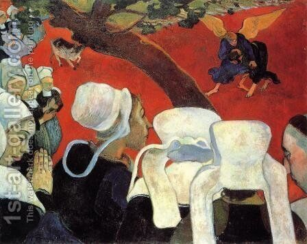 Vision After the Sermon: Jacob Wrestling with the Angel by Paul Gauguin - Reproduction Oil Painting