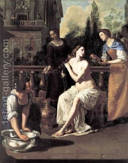 David and Bathsheba by Artemisia Gentileschi - Reproduction Oil Painting