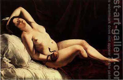 Cleopatra by Artemisia Gentileschi - Reproduction Oil Painting