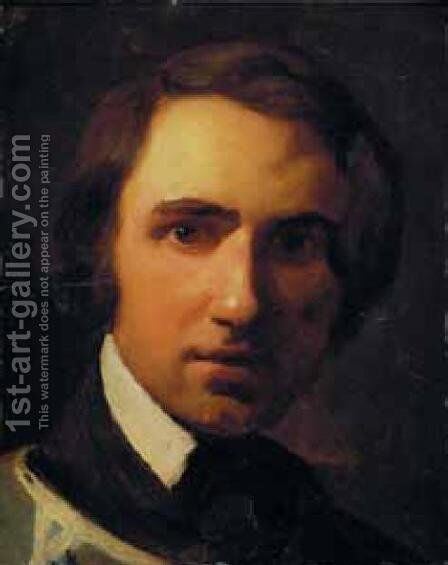 Portrait Study of a Young Man by Theodore Gericault - Reproduction Oil Painting