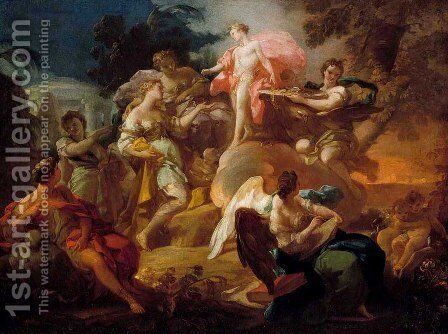 Allegory of the Arts with Apollo and the Graces by Corrado Giaquinto - Reproduction Oil Painting