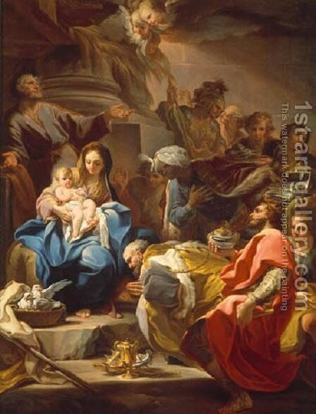The Adoration of the Magi by Corrado Giaquinto - Reproduction Oil Painting