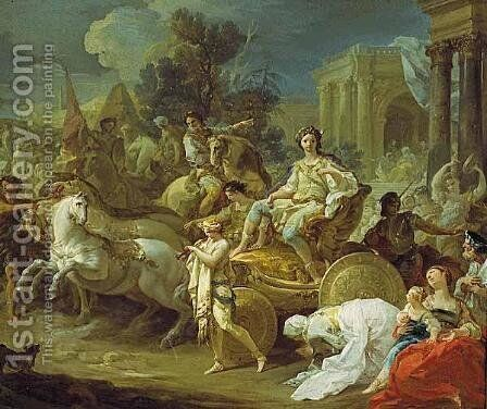 Triumph of Giuseppe by Corrado Giaquinto - Reproduction Oil Painting
