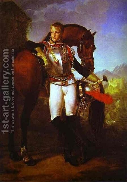 Lieutenant Charles Legrand by Antoine-Jean Gros - Reproduction Oil Painting