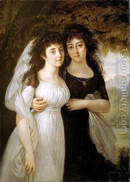 Portrait of the Maistre Sisters by Antoine-Jean Gros - Reproduction Oil Painting