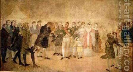 Napoleon Visiting the Louvre by Antoine-Jean Gros - Reproduction Oil Painting