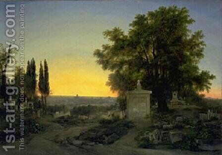 Paris, View of Pere Lachaise by Antoine-Jean Gros - Reproduction Oil Painting