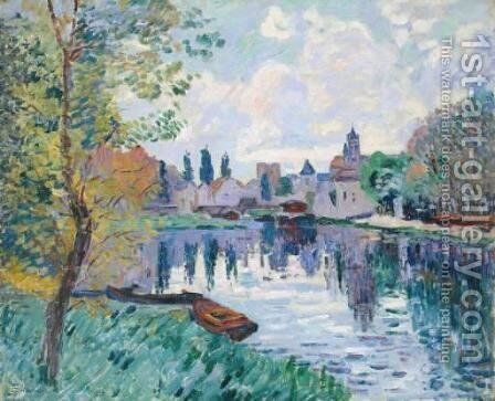 Moret-sur-Loing by Armand Guillaumin - Reproduction Oil Painting