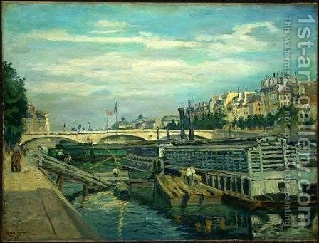 The Bridge of Louis Philippe by Armand Guillaumin - Reproduction Oil Painting