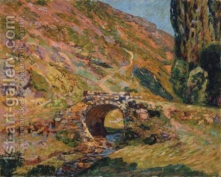 Bridge in the Mountains by Armand Guillaumin - Reproduction Oil Painting