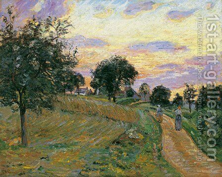 The Road of Damiette by Armand Guillaumin - Reproduction Oil Painting