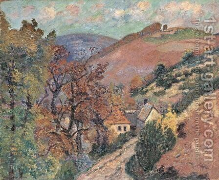 Mountain Landscape - Pontgibaud by Armand Guillaumin - Reproduction Oil Painting