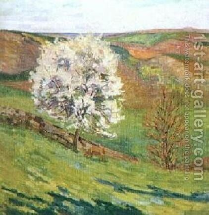 Trees in Blossomat Saint Cheron by Armand Guillaumin - Reproduction Oil Painting