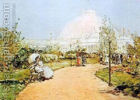 Worlds Fair by Childe Hassam - Reproduction Oil Painting