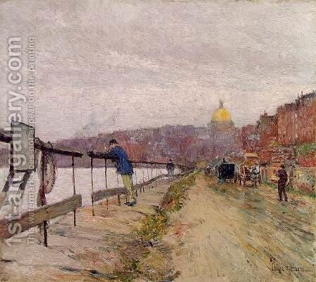 Charles River and Beacon Hill by Childe Hassam - Reproduction Oil Painting