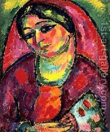 Red Veil by Alexei Jawlensky - Reproduction Oil Painting