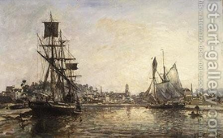 Honfleur 2 by Johan Barthold Jongkind - Reproduction Oil Painting